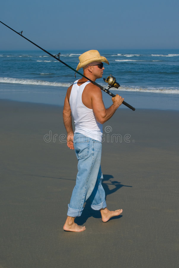 Pêche de vague déferlante photo libre de droits