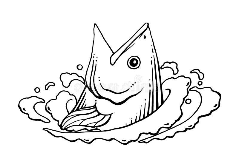 Pêche graphique, vecteur illustration stock