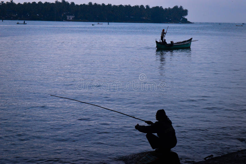 Pêche indienne photographie stock libre de droits