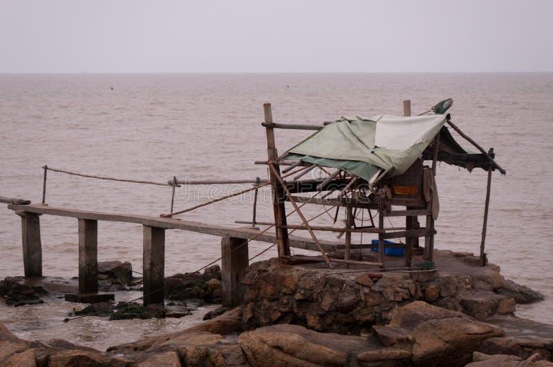 Pêche jetée photo stock
