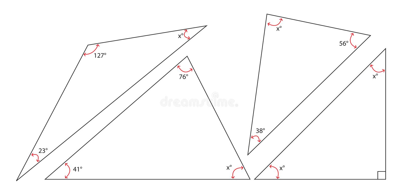 Pêche la somme d'une triangle illustration libre de droits