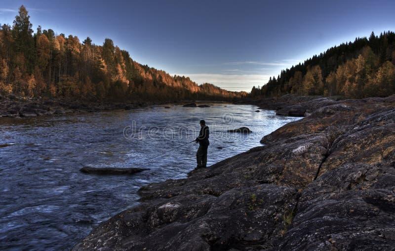 Pêche nordique photographie stock libre de droits