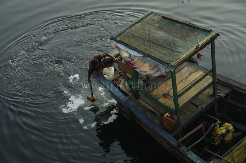 Pêche Prepare image stock