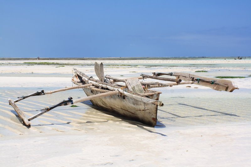 pêche Zanzibar de bateau photographie stock