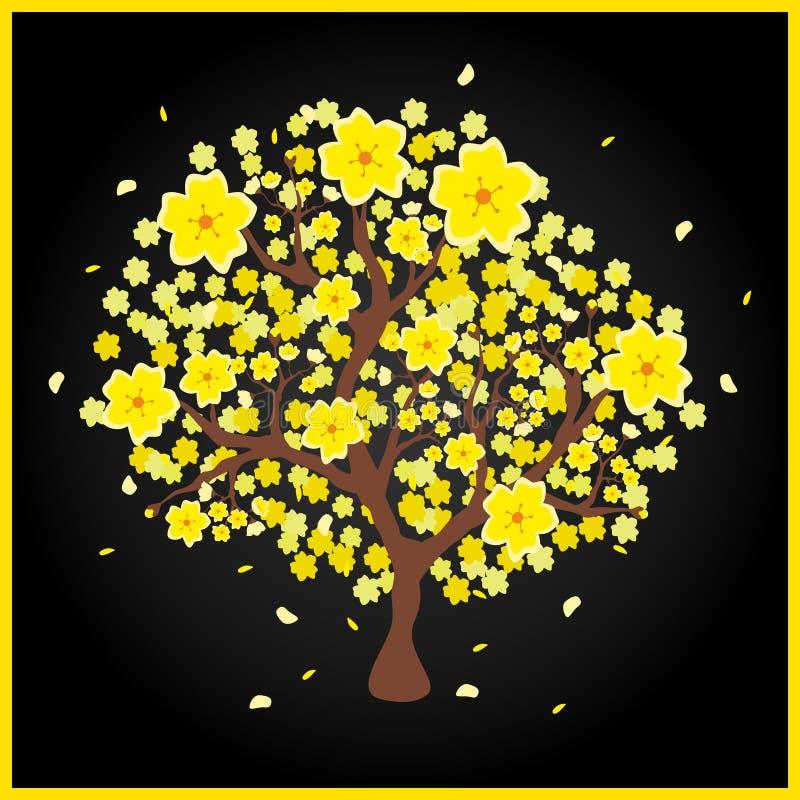 Pêcher de jaune de l'AMI de Hoa illustration de vecteur