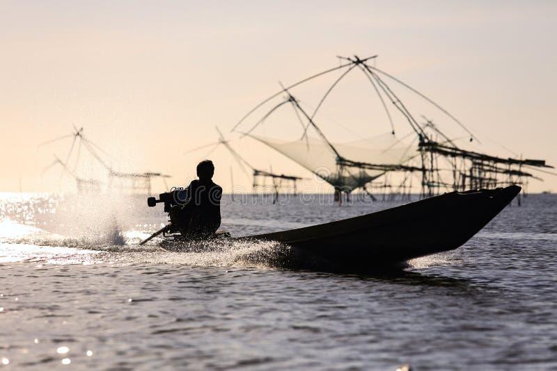 Download Pêcheur image stock. Image du pêche, nourriture, silhouette - 45366981