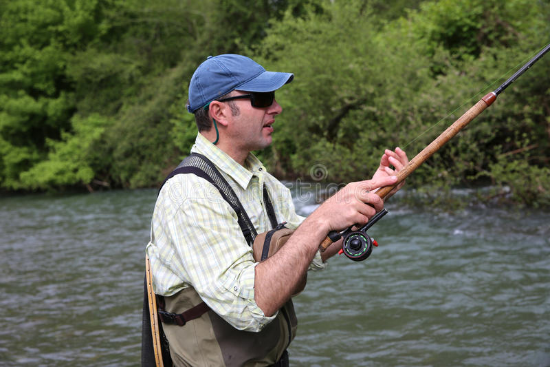 Pêcheur avec l'hameçon photos libres de droits