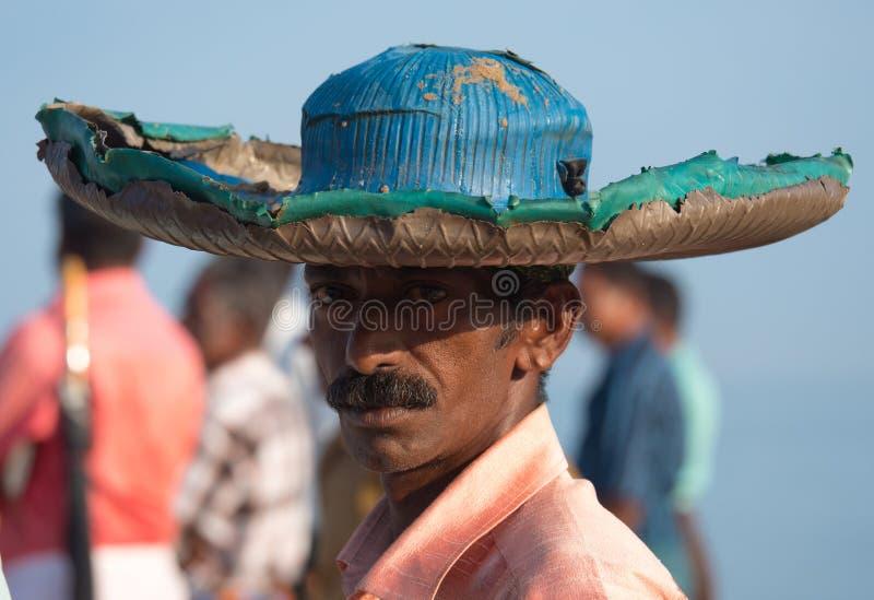 Pêcheur chez Mararikulam Kerala images libres de droits
