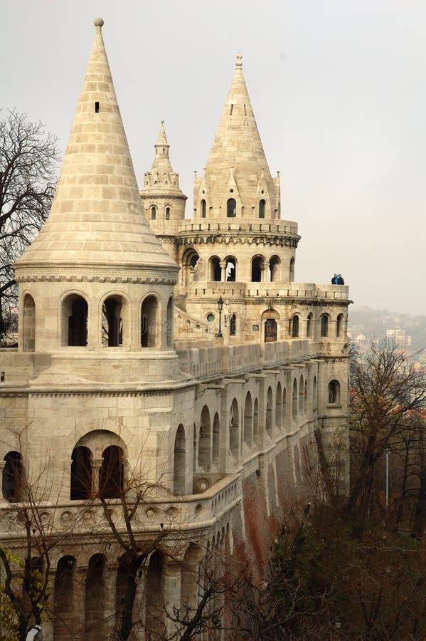 Pêcheur de Budapest \ 'bastion de s photo libre de droits