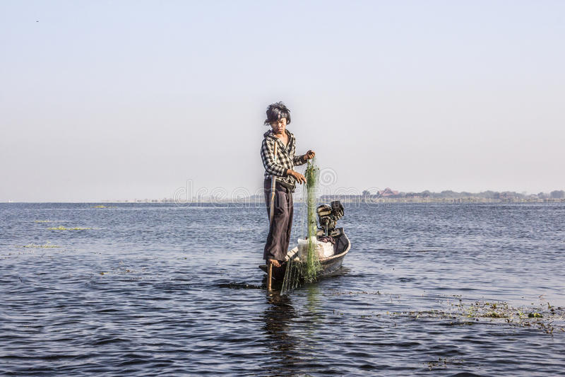 Pêcheur de Legrowing image stock