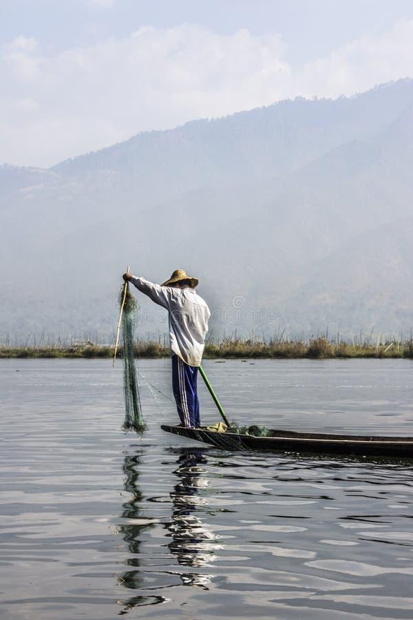 Pêcheur de Legrowing photos libres de droits