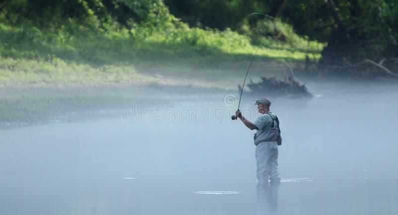 Pêcheur de mouche photographie stock libre de droits