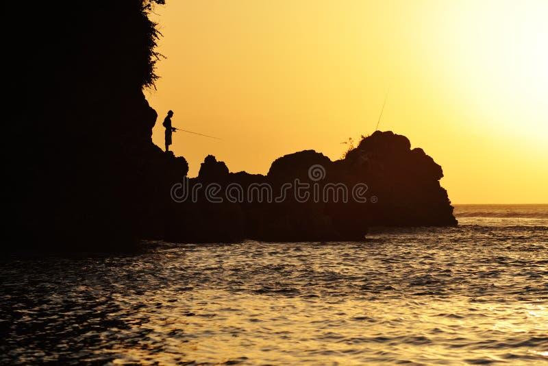 Pêcheur solitaire photographie stock