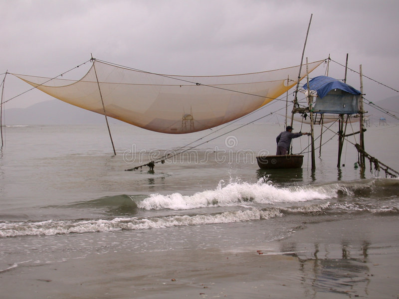 Pêcheur vietnamien photo stock