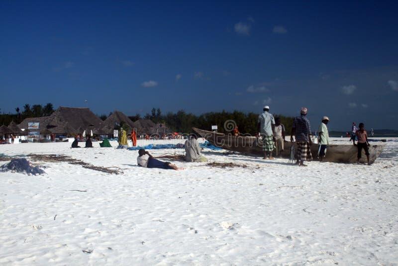 Pêcheurs à Zanzibar photographie stock