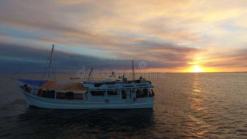 Pêcheurs Barco photo stock