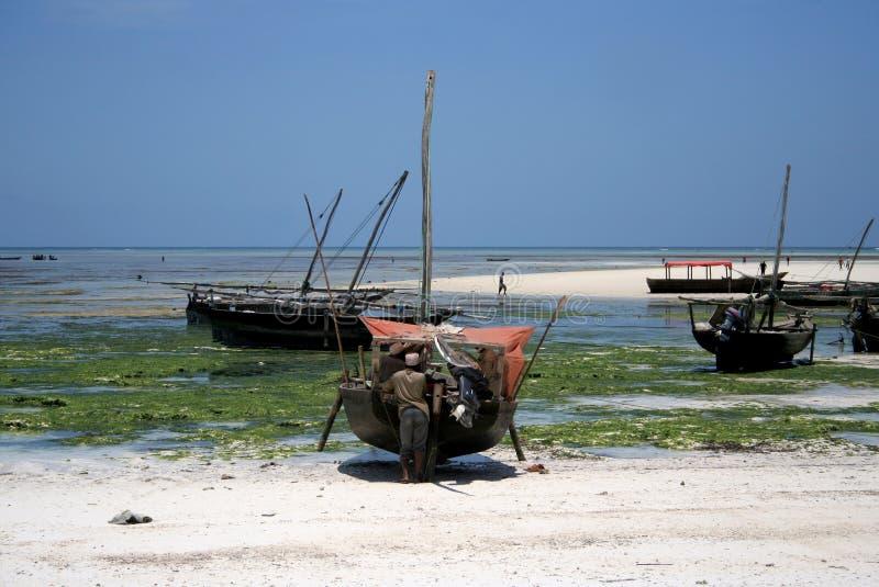 Pêcheurs de Zanzibar photographie stock