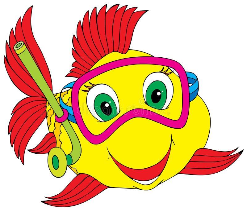 Pêchez le plongeur illustration de vecteur