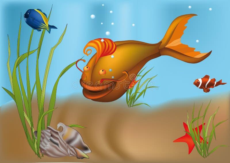 Pêchez un poisson-chat illustration stock