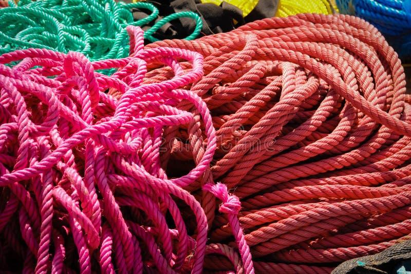 Pêle-mêle des cordes photographie stock