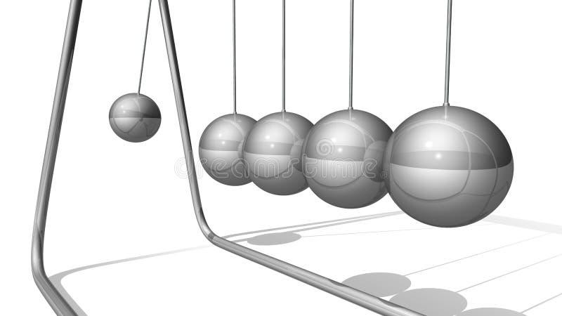 Pêndulos cinéticos ilustração stock