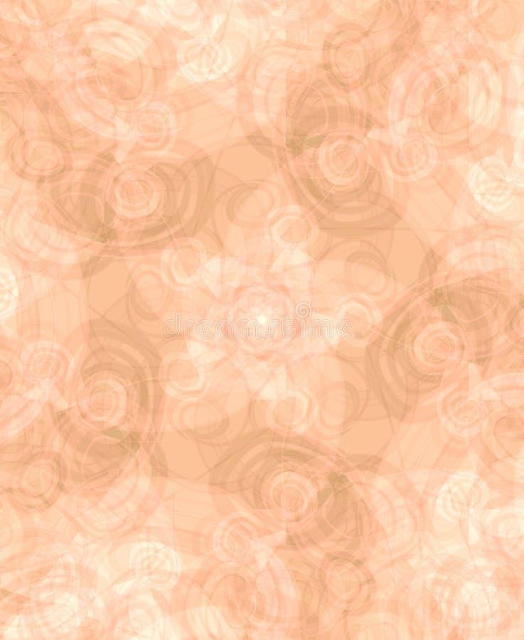 Pêssego colorido luz da textura ilustração stock