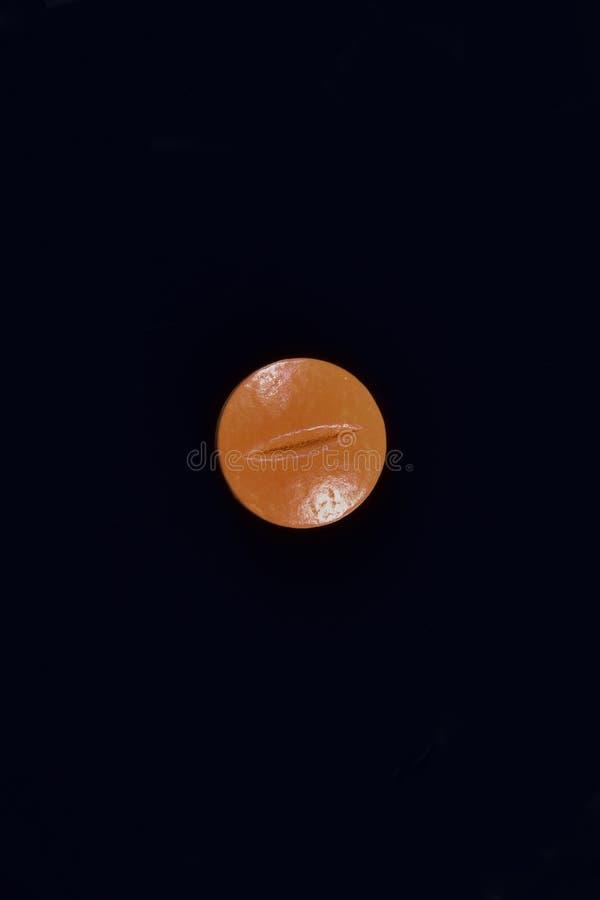 Píldora anaranjada de la droga fotos de archivo