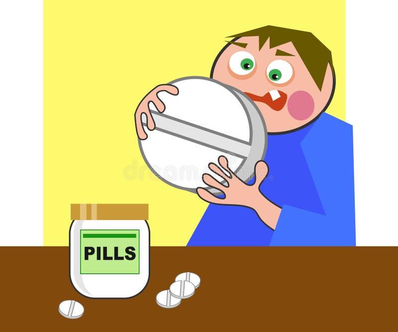 Píldora gigante stock de ilustración