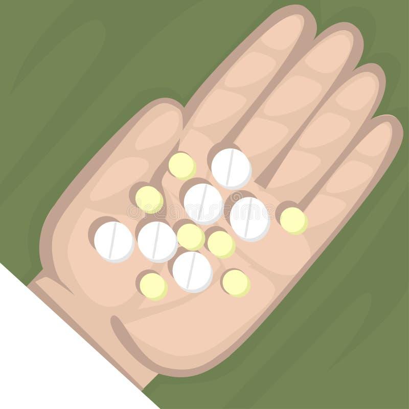 Píldoras stock de ilustración
