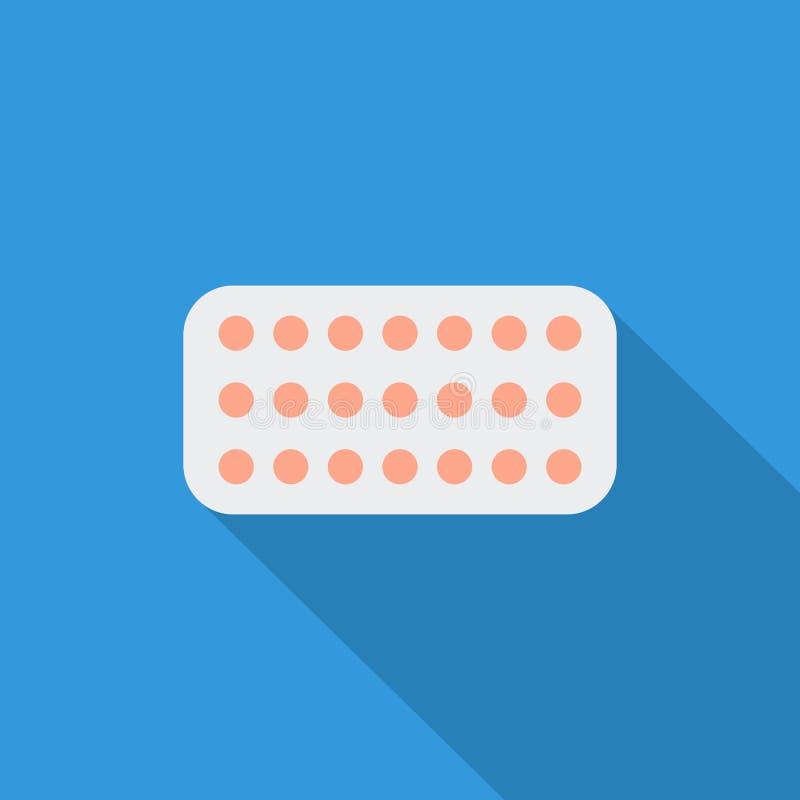 Píldoras anticonceptivas stock de ilustración