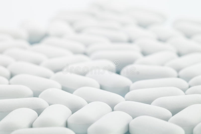 Píldoras blancas fotos de archivo