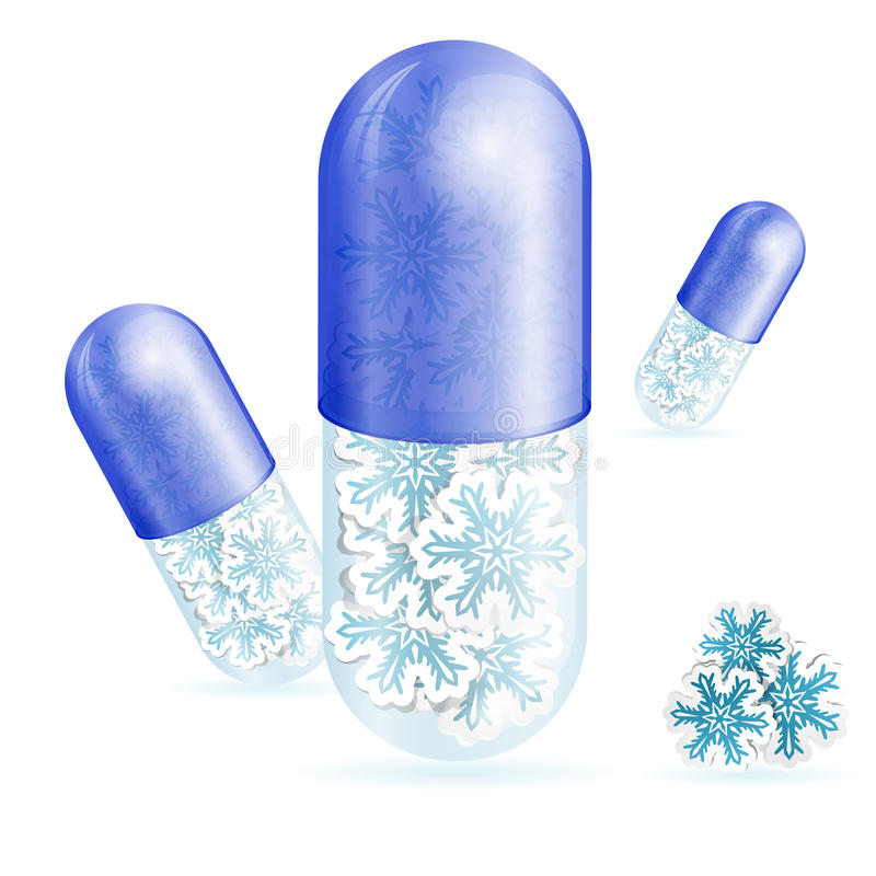 Píldoras de la Navidad stock de ilustración