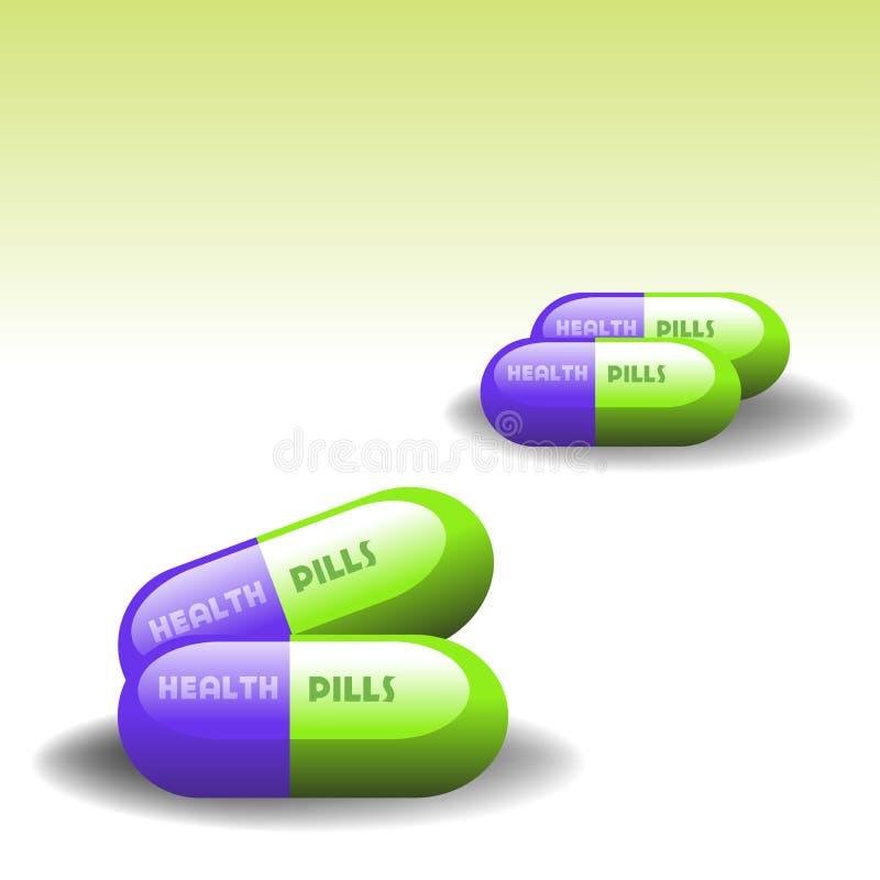 Píldoras de la salud libre illustration