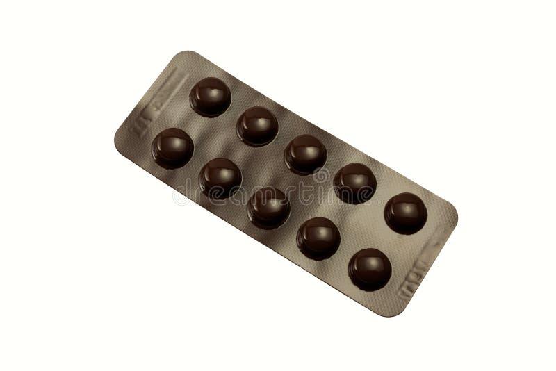 Píldoras en un paquete de ampolla fotos de archivo