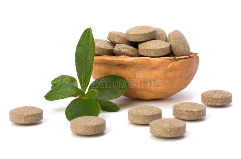 Píldoras herbarias imagen de archivo libre de regalías