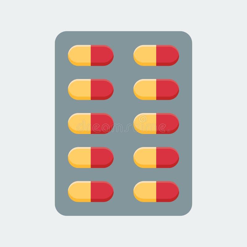 Píldoras para la administración oral stock de ilustración