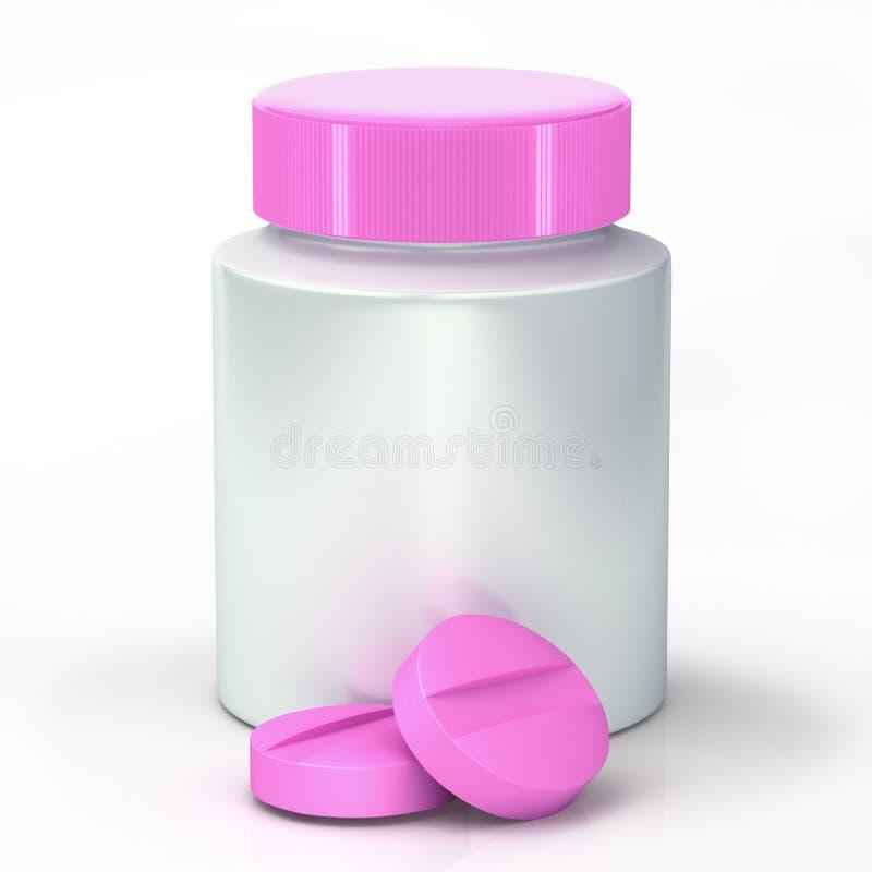 Píldoras rosadas fotografía de archivo