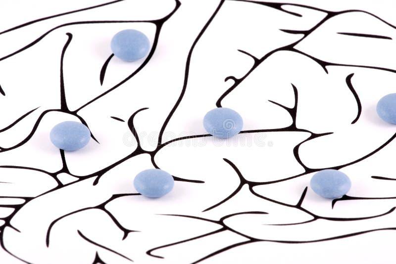 Píldoras sanas del cerebro imagen de archivo
