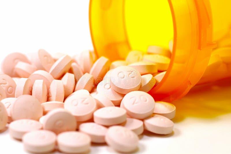 Píldoras Y Una Botella 4 Fotografía de archivo libre de regalías