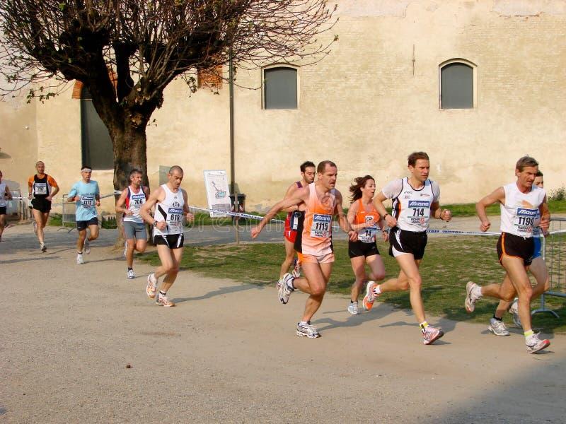 pół Włoch maratonu wyścig vigevano fotografia stock