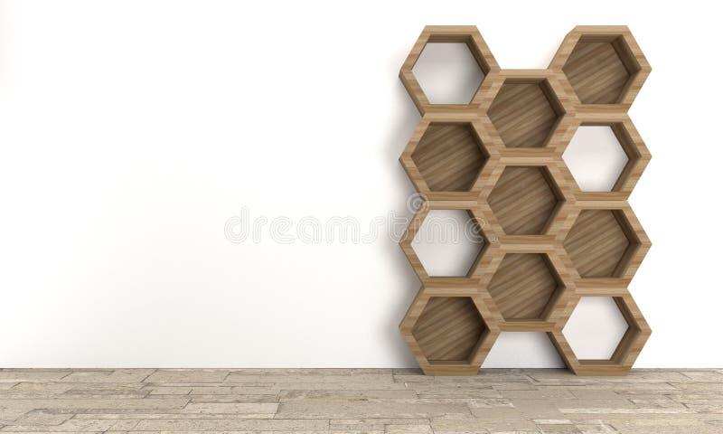 Półka na książki, 3D rendering ilustracja wektor