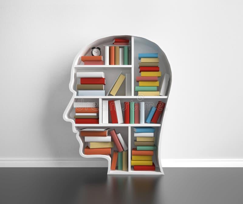 Półka na książki głowa ilustracji