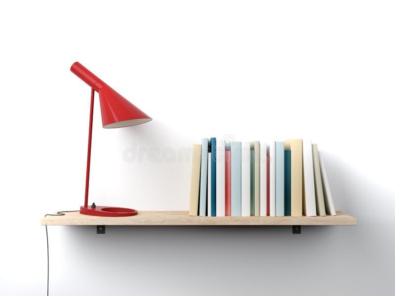 Półka na książki na ścianie ilustracji