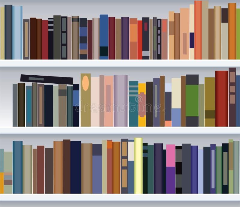 półka na książki nowożytny ilustracja wektor