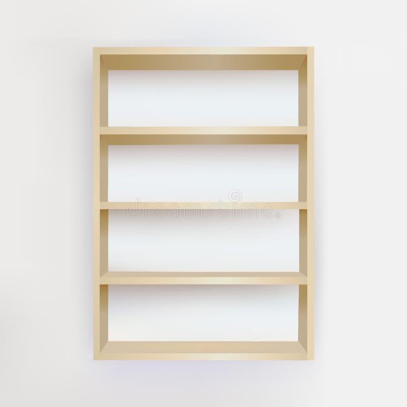 półka na książki pusty ilustracja wektor