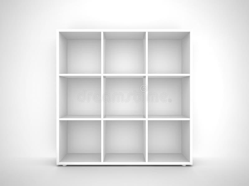 półka na książki pusty royalty ilustracja