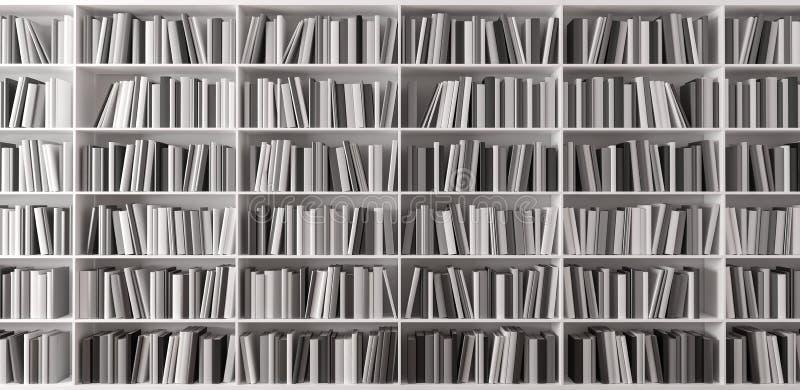 Półka na książki z książkami 3d odpłaca się ilustracji