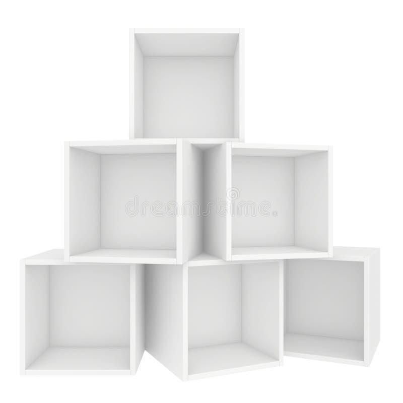 półka pusta 3d odpłacają się na białym tle ilustracji