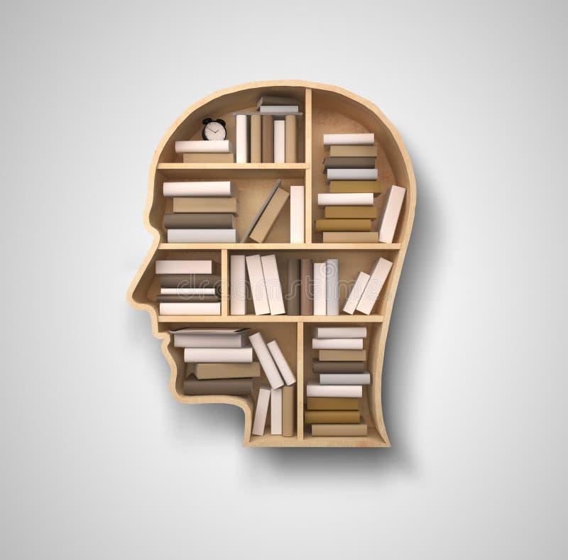 Półka w formie głowa ilustracji