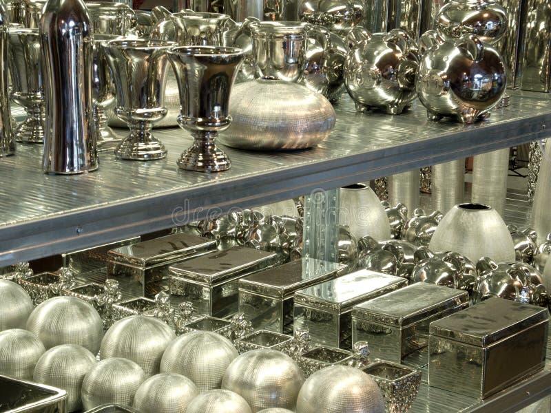 półki srebro obraz stock